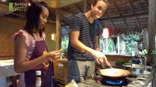 Cooking at Tree House Village